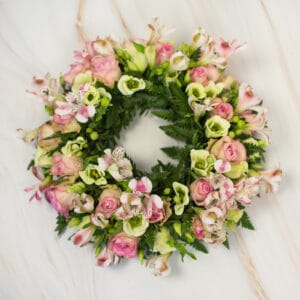 Rouw- en bloemstukken
